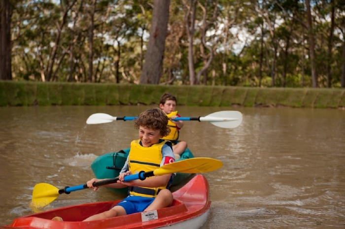 Kayaking with a mate
