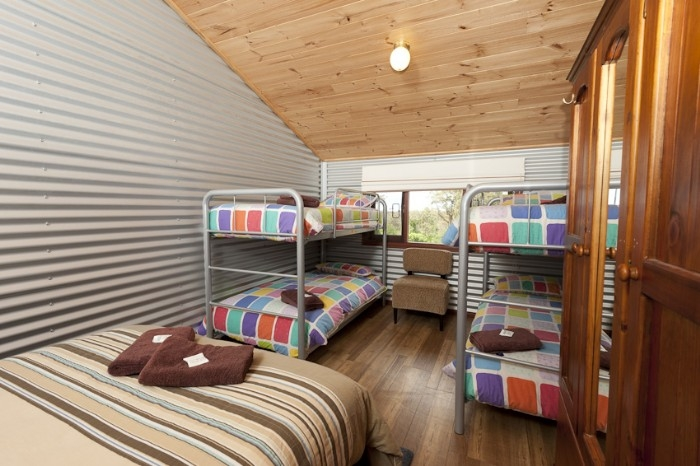 Double bed & bunks - family room