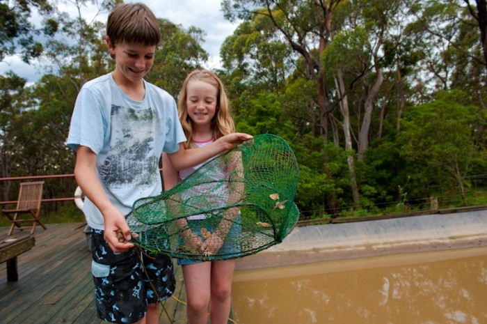 Catching yabbies is for all kids