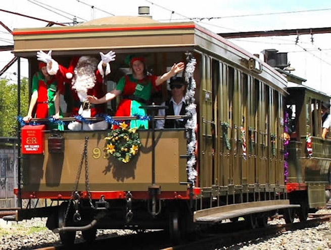 Santa is heading to Valley Heights - by Steam Tram!